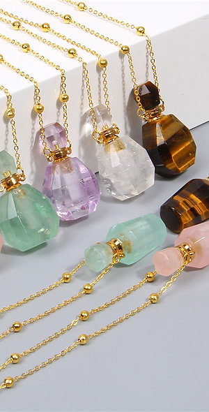 Natural Gemstone Perfume Bottle