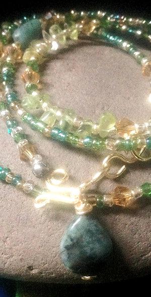 Emerald and Peridot Waistbeads