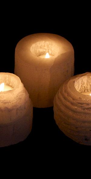 Selenite Tealight Candleholders