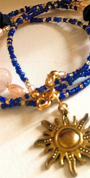 Lapis Lazuli Sun Crystal Waistbeads