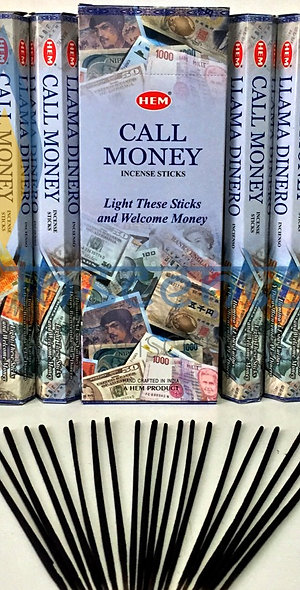 Hem Call Money Incense Pack of 6