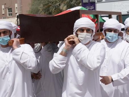 Mohammed bin Rashid performs funeral prayer for Hamdan bin Rashid