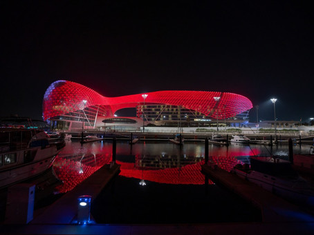 Yas Island turns red as UAE's Hope Probe approaches the Red Planet