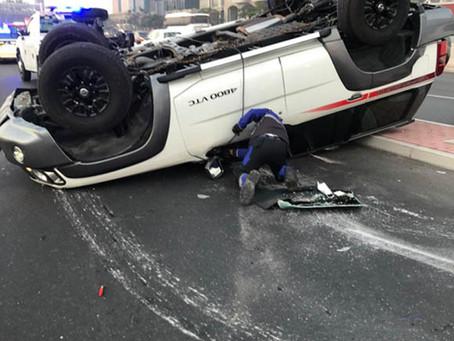 إصابة 6 أشخاص في حوادث مرورية متفرقة خلال 48 ساعة