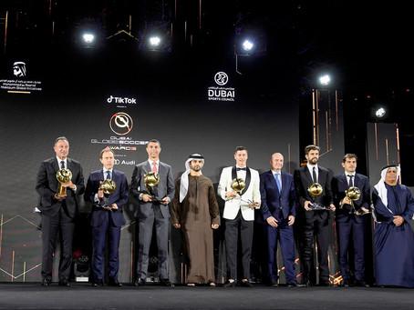 نجوم الكرة العالمية المشاركون مؤتمر دبي الرياضي الدولي يوجهون رسائل شكر ومحبة للإمارات