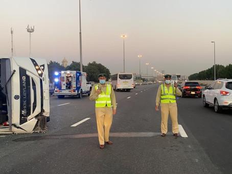 Ten injured in Traffic Accident on Umm Suqeim Rd in Dubai