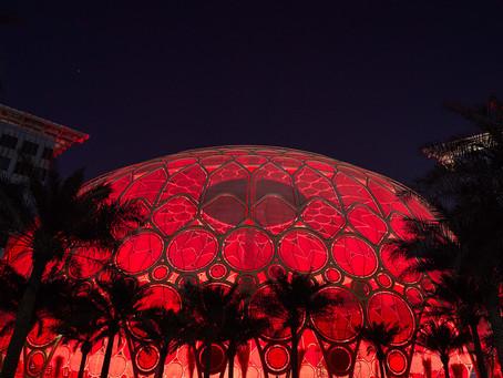 Expo 2020 illuminates Al Wasl dome in red as Hope Probe nears Mars orbit