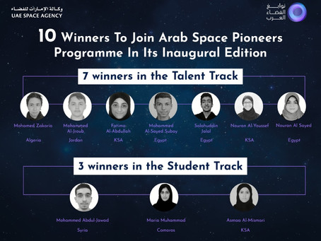 UAE Space Agency announces 10 Winners to join Arab Space Pioneers Programme in its inaugural edition