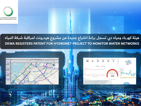 DEWA registers patent for Hydronet project to monitor water networks