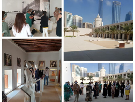 Ambassadorial spouses learn about Abu Dhabi's legacy during a tour of Qasr Al Hosn