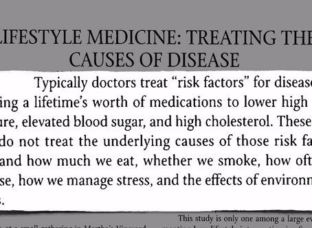 Chronic Diseases Are Reversible With Lifestyle Medicine!