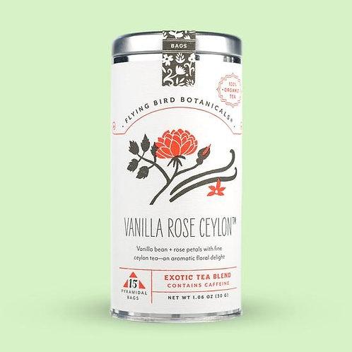 Vanilla Rose Ceylon Tea Bags