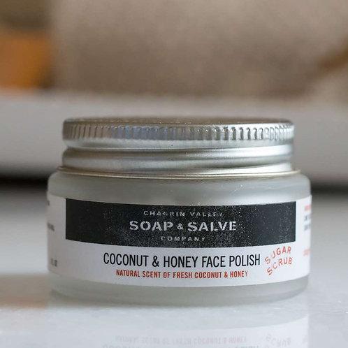 Coconut + Honey Face Polish (Sugar Scrub)