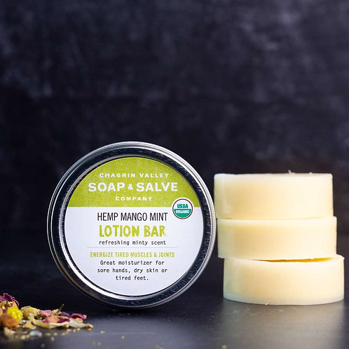 Hemp Mango Mint Lotion Bar