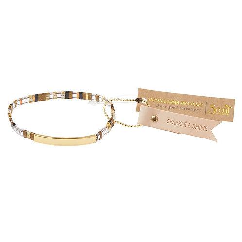 Good Karma Miyuki Bracelet   SPARKLE & SHINE - Topaz/Gold