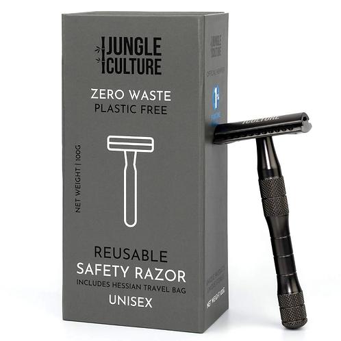 Reusable Safety Razor - Metallic Black