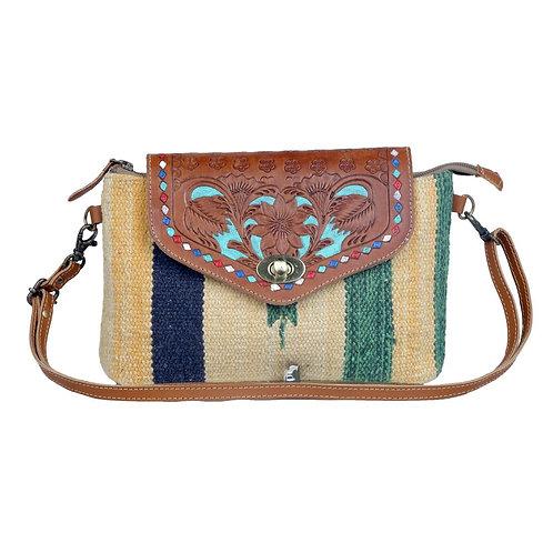 Beamy Rays Hand-Tooled Bag
