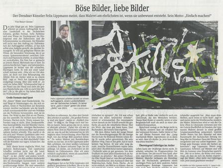 Die Sächsische Zeitung berichtet über den Maler Felix Lippmann