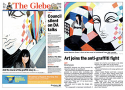 The Glebe newspaper cover & article