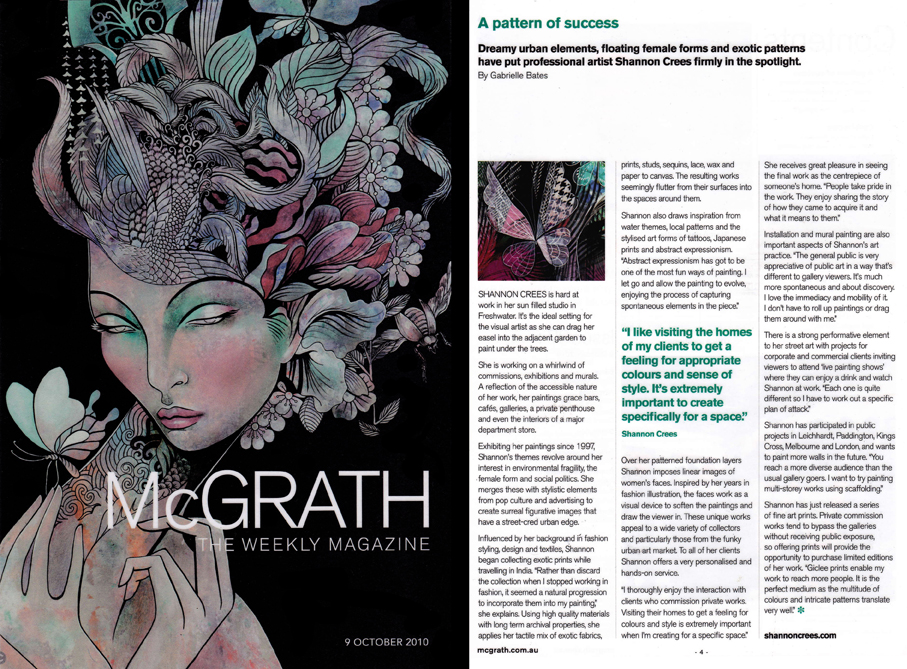 McGrath Magazine cover and article