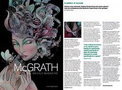 McGrath Magazine cover and article