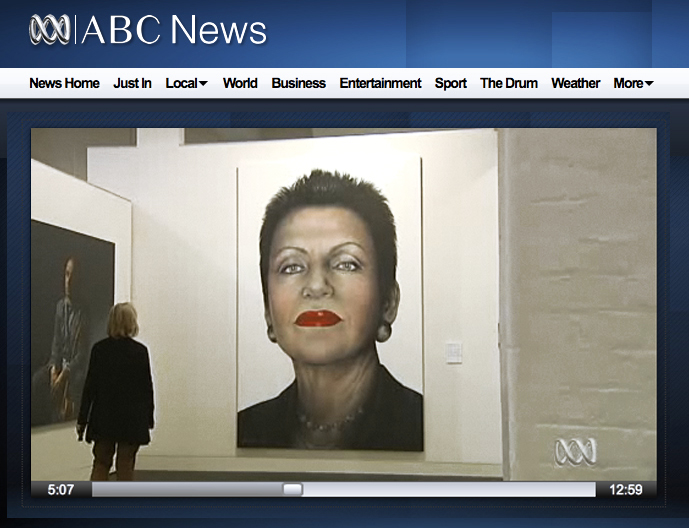 Feature on ABC news art segment
