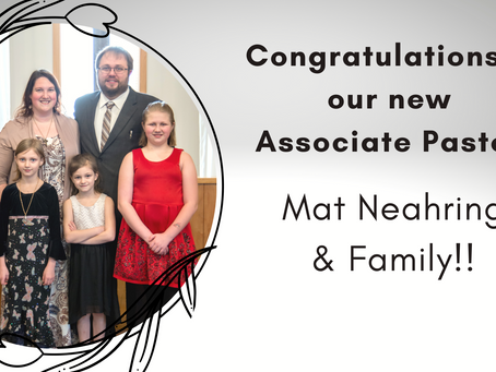 New Associate Pastor!