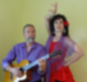 Bryan Edington on guitar Carolynn dancing