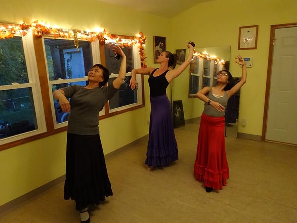 Learning Spanish dance