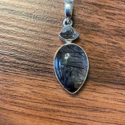 Black Rutilated Quartz Pendant