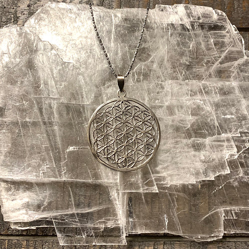 Sterling Silver Flower of Life Necklace