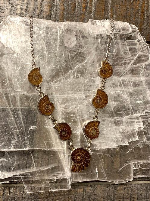 Ammonite Stone Designer Necklace