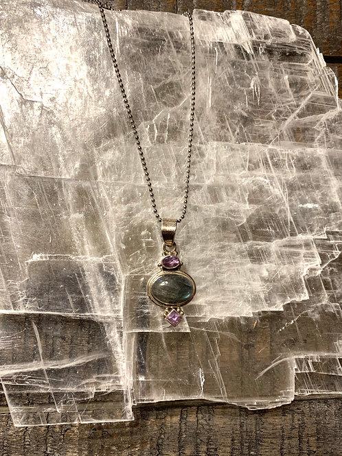 Labradorite and Amethyst Necklace