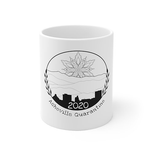 AQ 2020 White Ceramic Mug - Design by Violit B. Hartwell