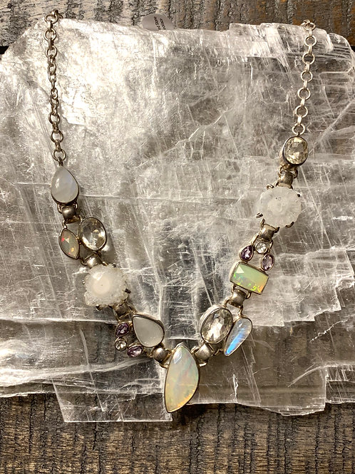 Mixed Stone Designer Crystal Necklace