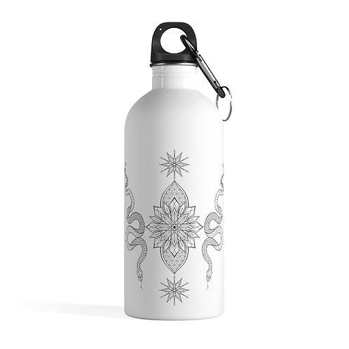 Snake Mandala Stainless Steel Water Bottle