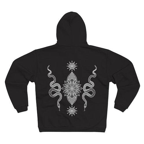 Snake Mandala Unisex Hooded Zip Sweatshirt