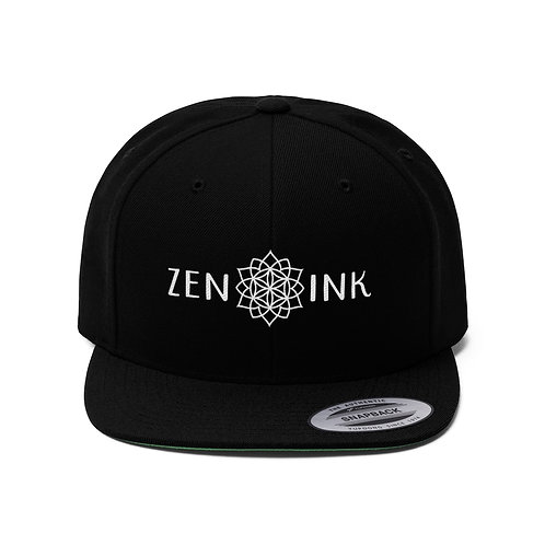 Zen Ink Unisex Flat Bill Hat