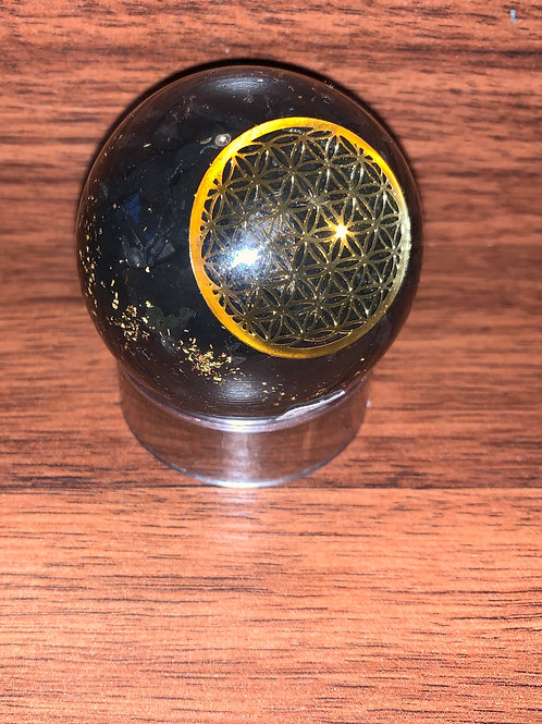 Flower of Life Organite with Black Tourmaline