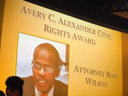 Avery Alexander Civil Rights Award - Atty Ron Wilson