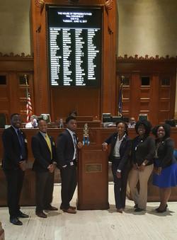 2017 LLBC SULC Interns on the House Floor