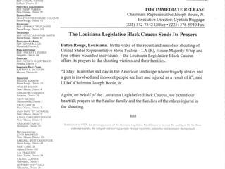 The Louisiana Legislative Black Caucus Sends Its Prayers