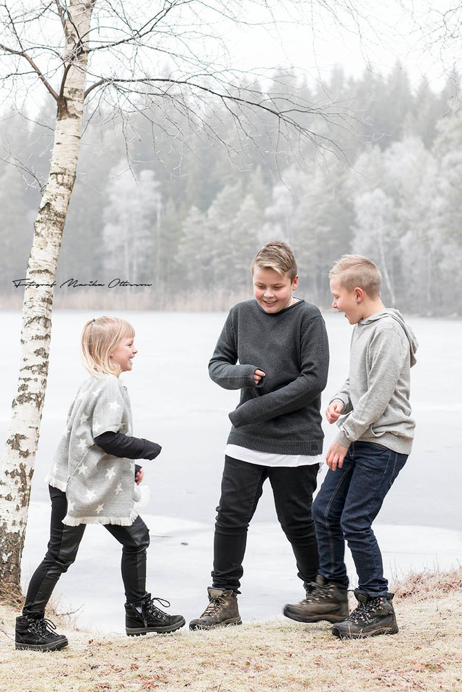 Syskonfotografering i Vissefjärda -Småland