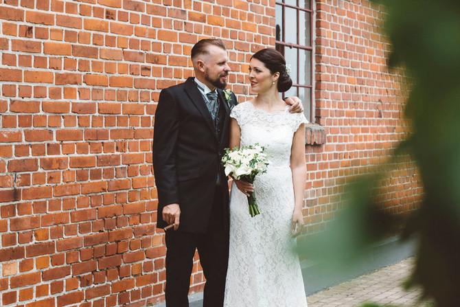 Kombinationen tegel och bröllop!