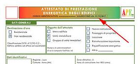 validità certificazione energetica