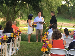 Anita and Chance's Wedding at Comal River Cottages in New Braunfels, Texas