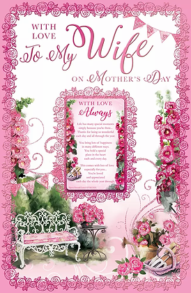 Wife On Mothers Day Keepsake (Large)