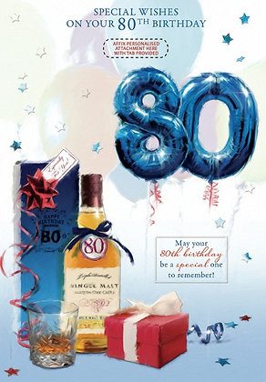 Personalise 80th Birthday