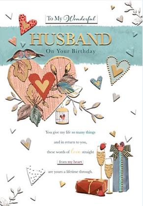 Wonderful Husband On Your Birthday