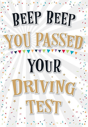You Passed Your Driving Test